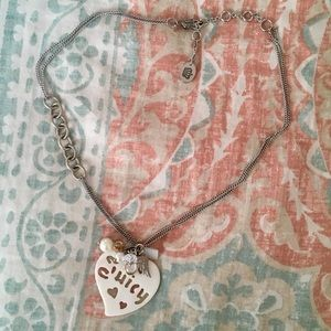 Juicy Couture Heart Charm Shell Pendant Necklace ✨